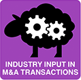 industry input in m&a transactions